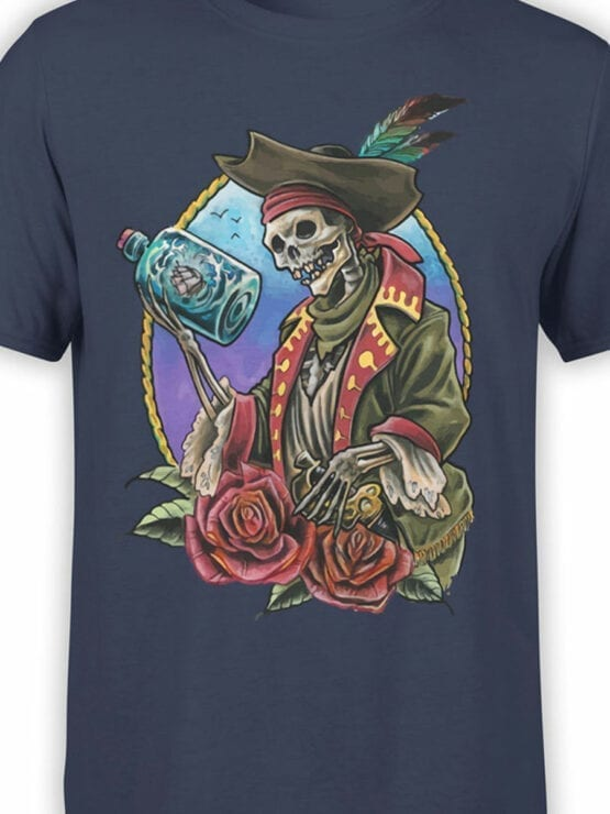 0742 Pirate Shirt Roses Front Color