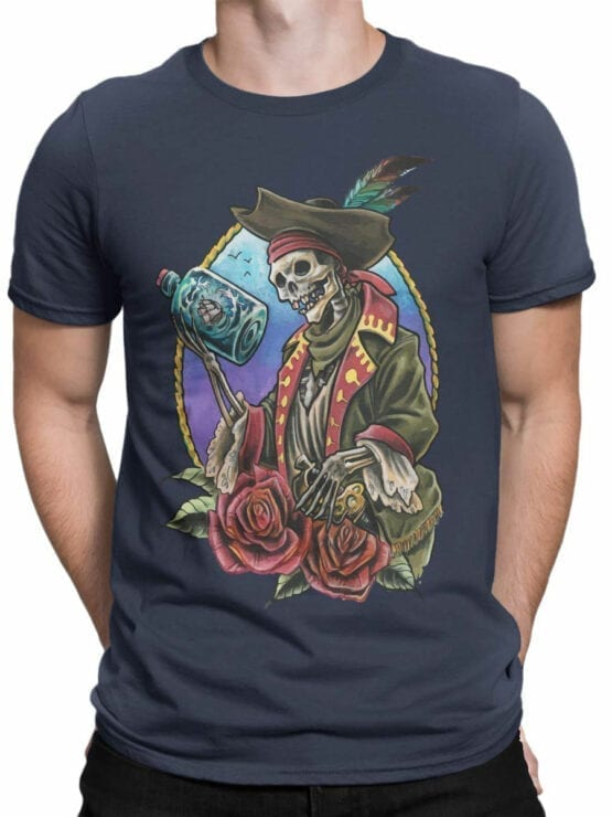 0742 Pirate Shirt Roses Front Man