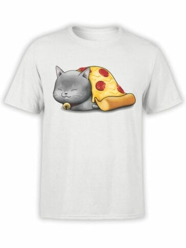 0747 Pizza Shirts Purr purr oni Front