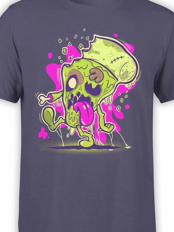 0850 Monster Shirt Zombie Pizza Front Color