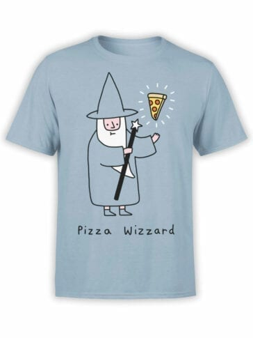 0852 Pizza Shirt Wizzard Front
