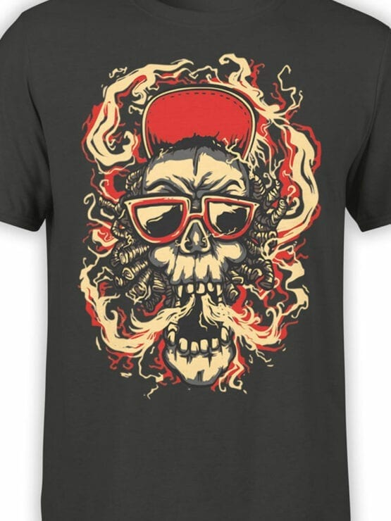 0853 Cool T Shirts Smoke Front Color