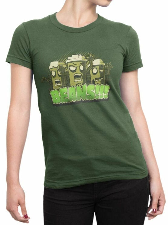 0857 Coffee Shirts Beans Front Woman