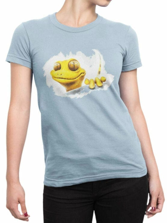 0863 Cool T Shirts Gecko Front Woman