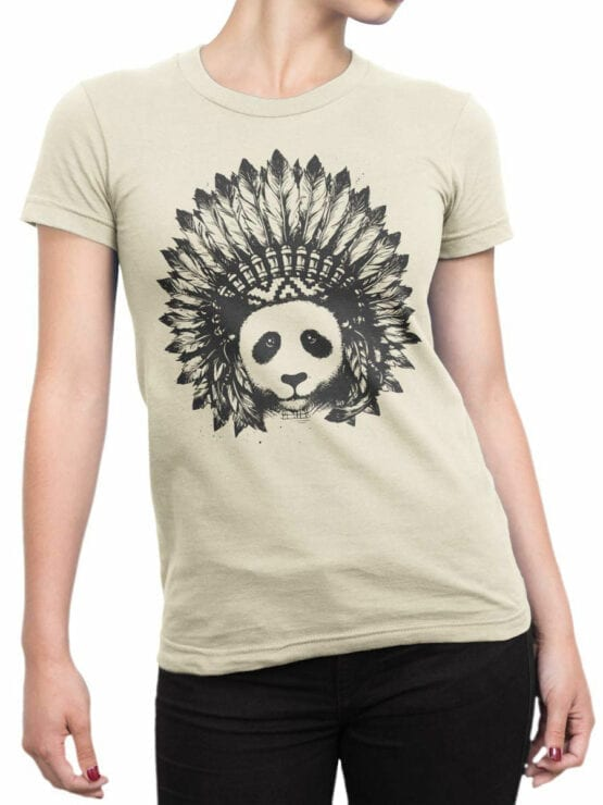 0866 Panda Shirt Indian Front Woman