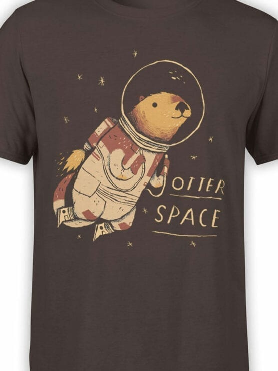0868 NASA Shirt Otter Space Front Color