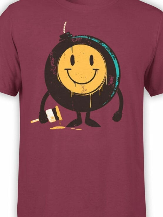 0875 Cool T Shirts Positive Bomb Front Color