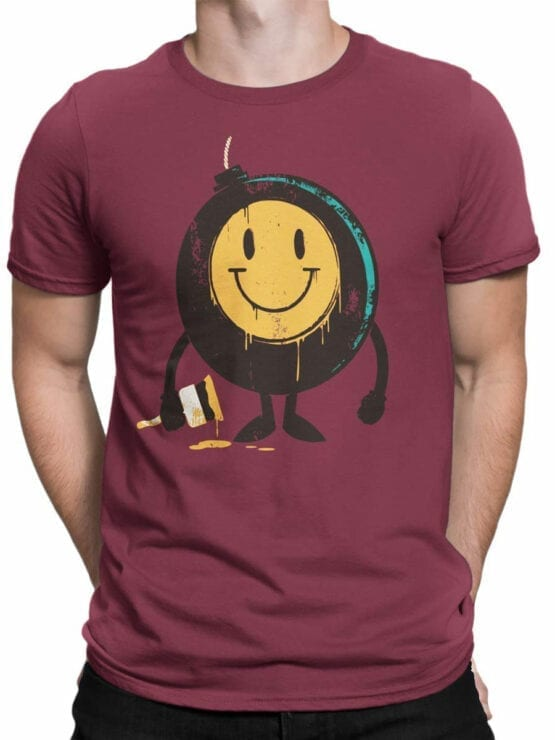 0875 Cool T Shirts Positive Bomb Front Man