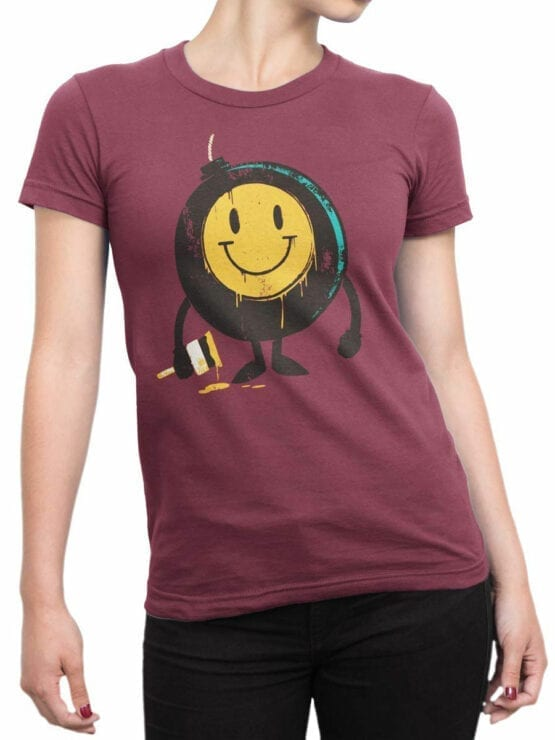0875 Cool T Shirts Positive Bomb Front Woman