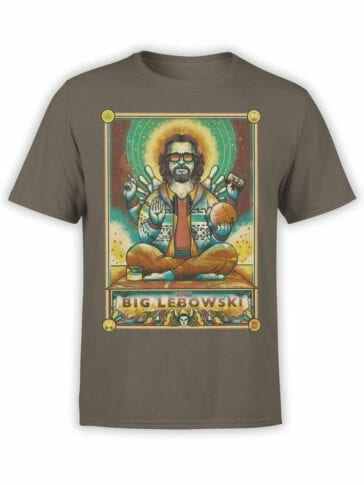 0877 Big Lebowski T Shirt Dude Nirvana Front