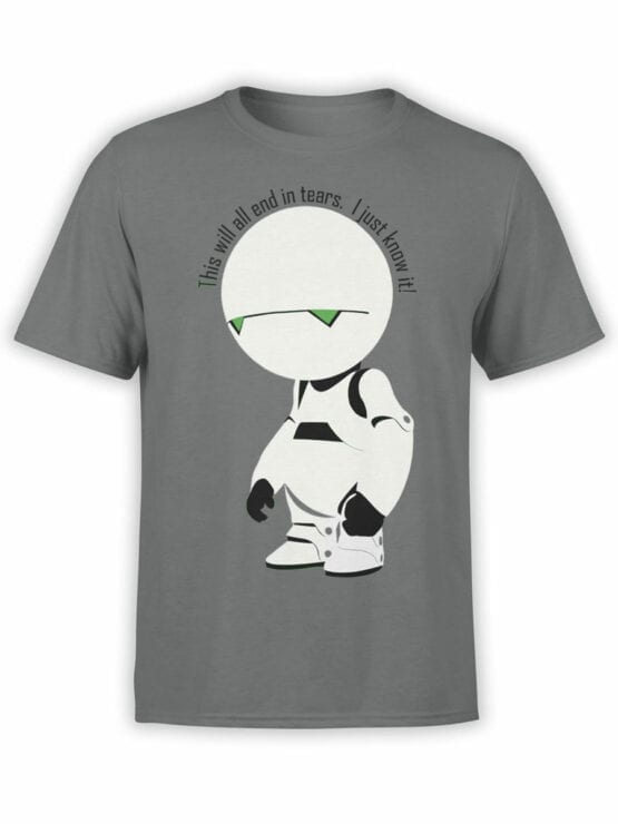 0913 The Hitchhikers Guide to the Galaxy Shirt Marvin I know it Front