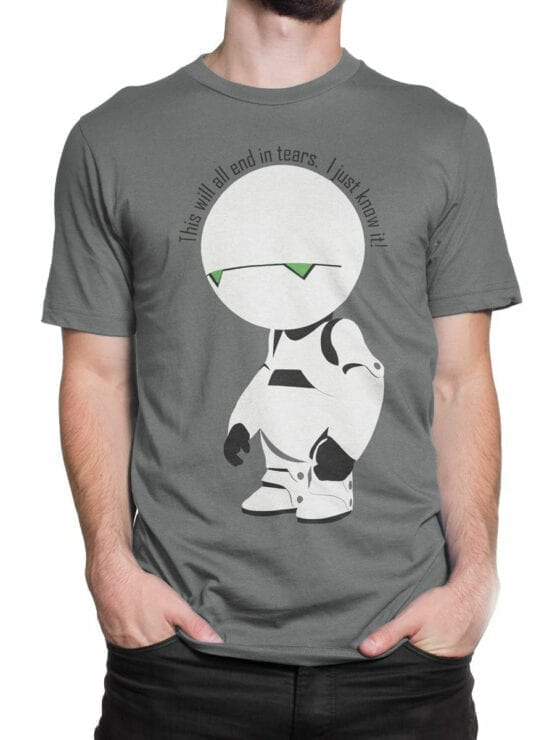 0913 The Hitchhikers Guide to the Galaxy Shirt Marvin I know it Front Man 2