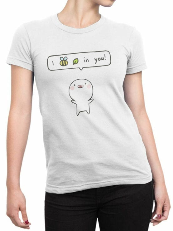 0918 Cute T Shirts I believe in you Front Woman