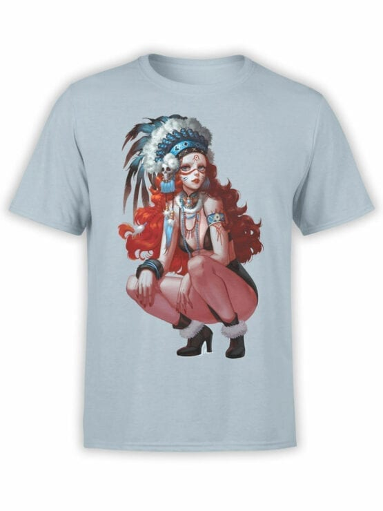 0944 Cool Shirts Art Indian Girl Front