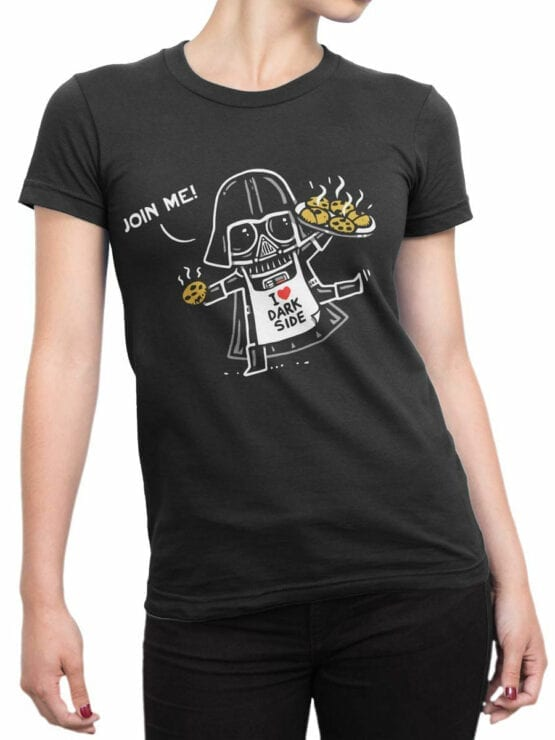 0945 Star Wars T Shirt Join Me Front Woman