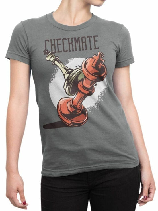 0952 Cool T Shirt Checkmate Front Woman