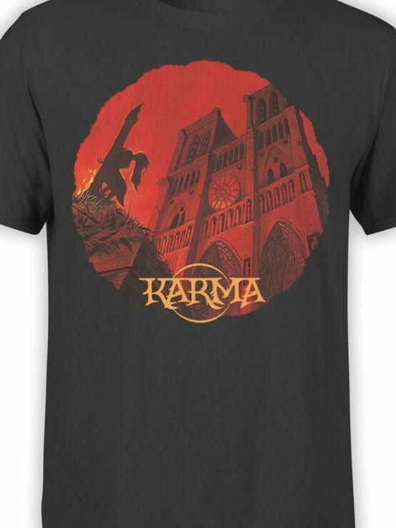 0960 Notre Dame de Paris T Shirt Karma Front Color