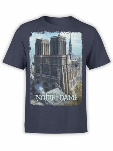0962 Notre Dame de Paris T Shirt ND Front