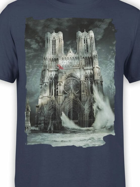 0964 Notre Dame T Shirt Flood Front Color