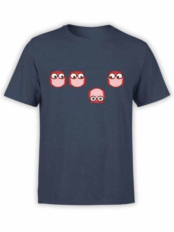 0966 Owl T Shirt Be Different Front