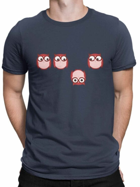 0966 Owl T Shirt Be Different Front Man