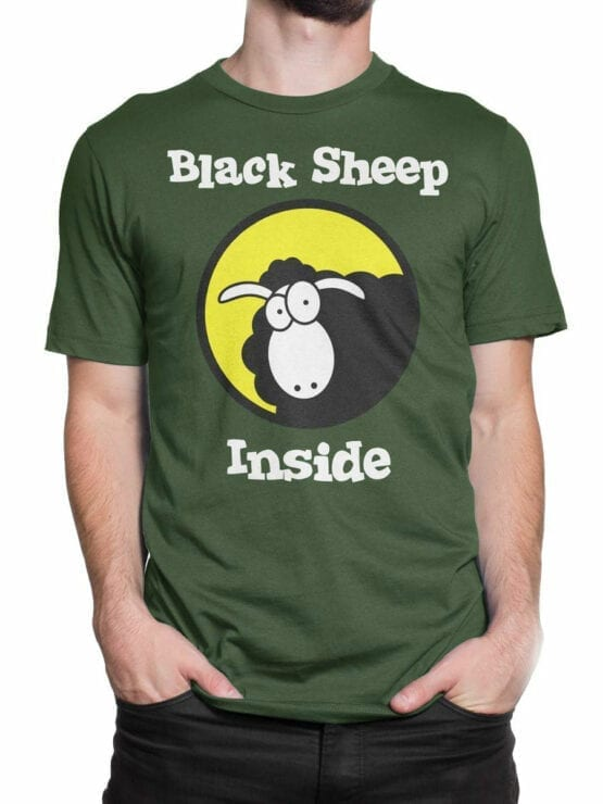 0979 Funny T Shirt Black Sheep Front Man 2
