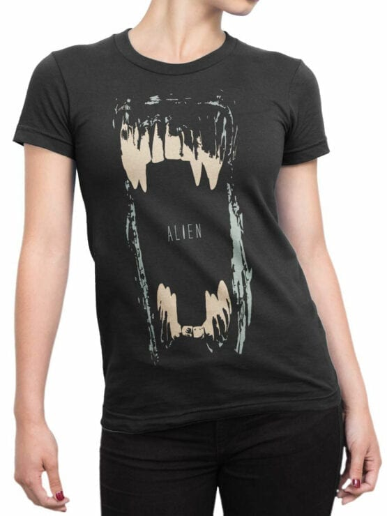 1011 Aliens T Shirt Maw Front Woman