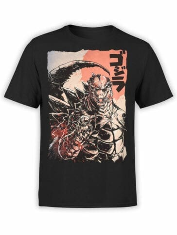 1014 Godzilla T Shirt You Front