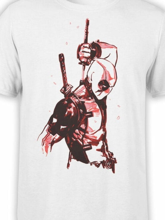 1017 Deadpool T Shirt Drawing Front Color