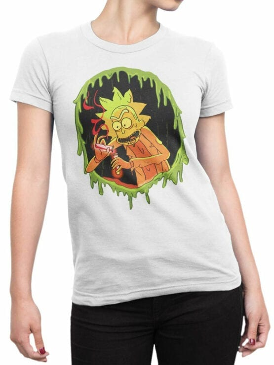 1032 Rick and Morty T Shirt Chemistry Front Woman