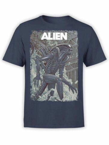 1061 Aliens T Shirt Retro Front