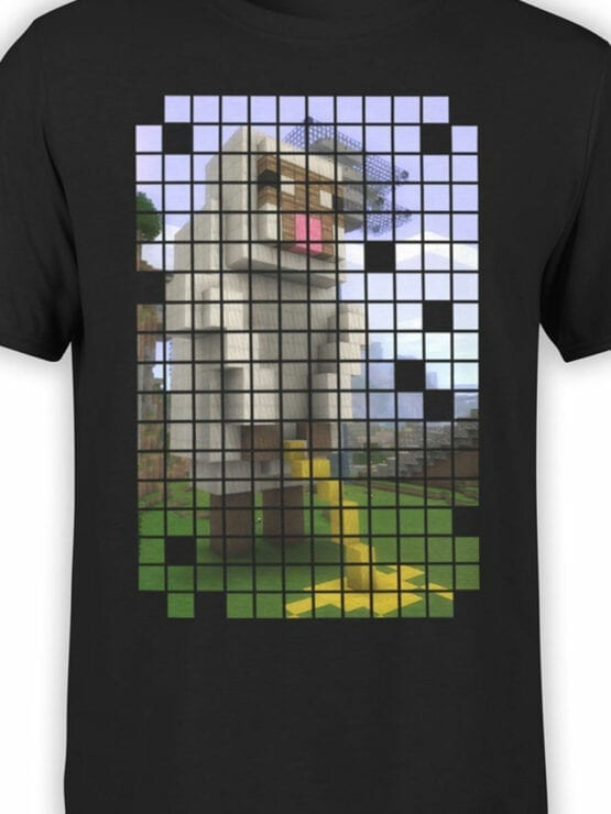 1068 Minecraft T Shirt Piss Front Color
