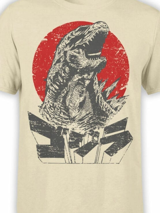 1084 Godzilla T Shirt Monster Front Color