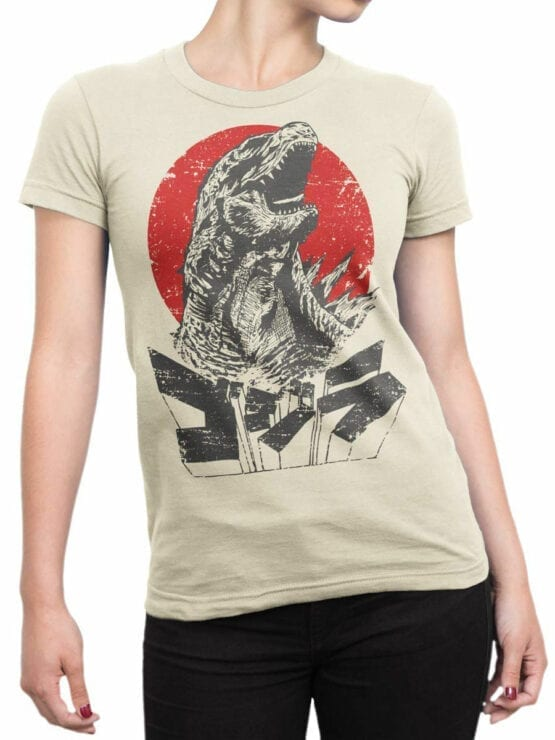 1084 Godzilla T Shirt Monster Front Woman