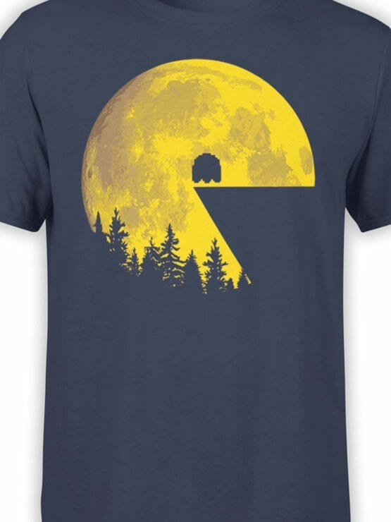 1111 Pac Man T Shirt Moon Front Color