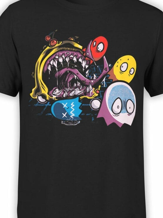 1115 Pac Man T Shirt Monster Front Color