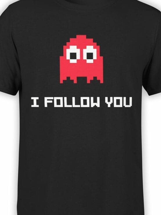 1118 Pac Man T Shirt Follow Front Color
