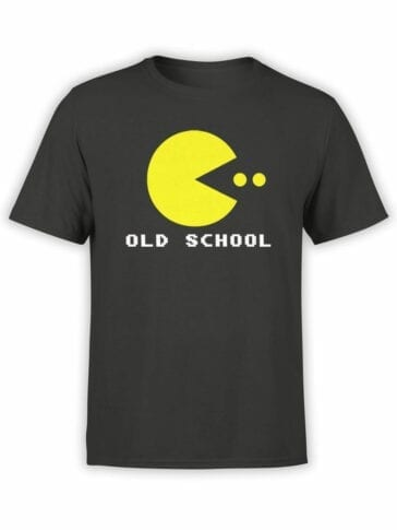 1120 Pac Man T Shirt Old School Front