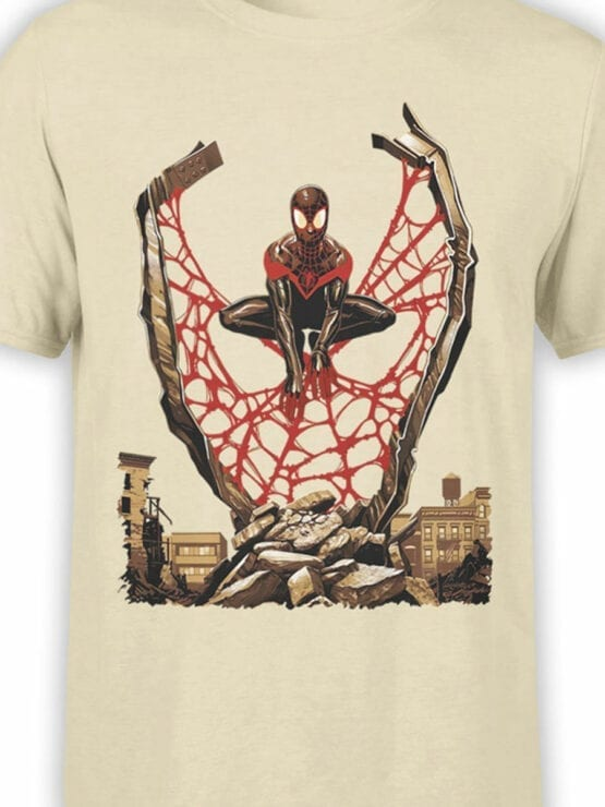 1135 Spider Man T Shirt City Front Color