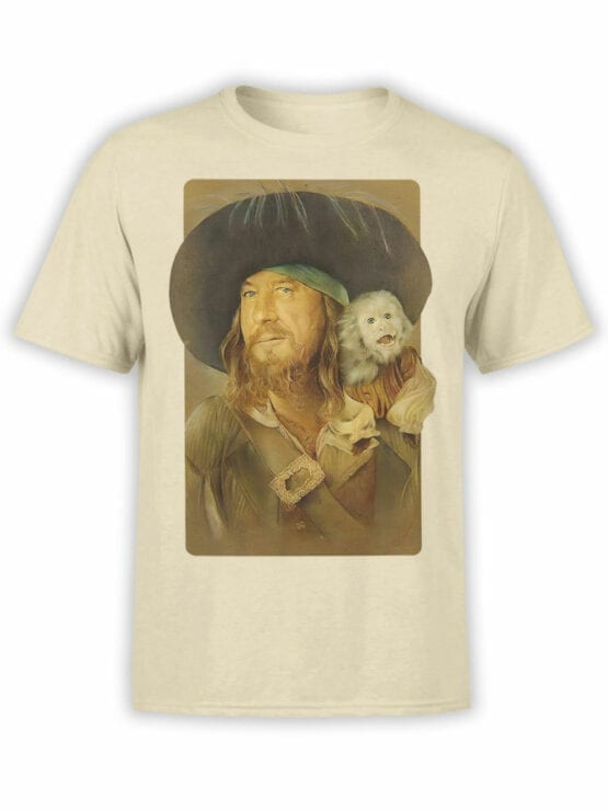 1151 Pirates of the Caribbean T Shirt Hector Barbossa Front