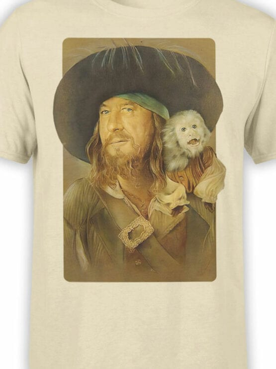 1151 Pirates of the Caribbean T Shirt Hector Barbossa Front Color