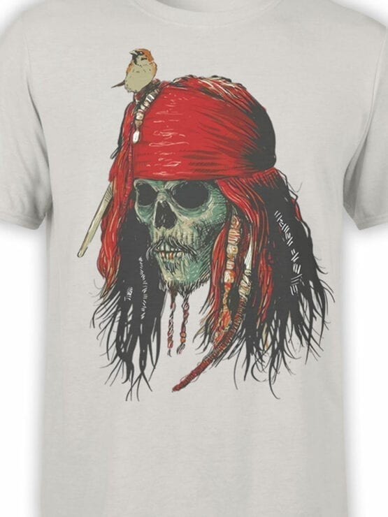 1156 Pirates of the Caribbean T Shirt Skull Front Color