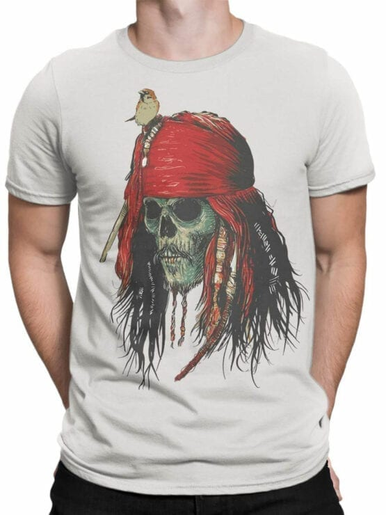 1156 Pirates of the Caribbean T Shirt Skull Front Man