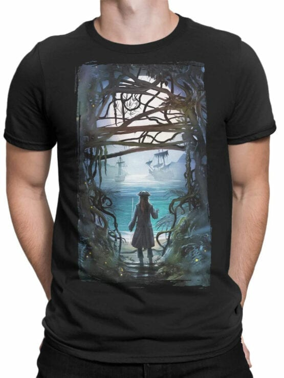 1157 Pirates of the Caribbean T Shirt Freedom Front Man