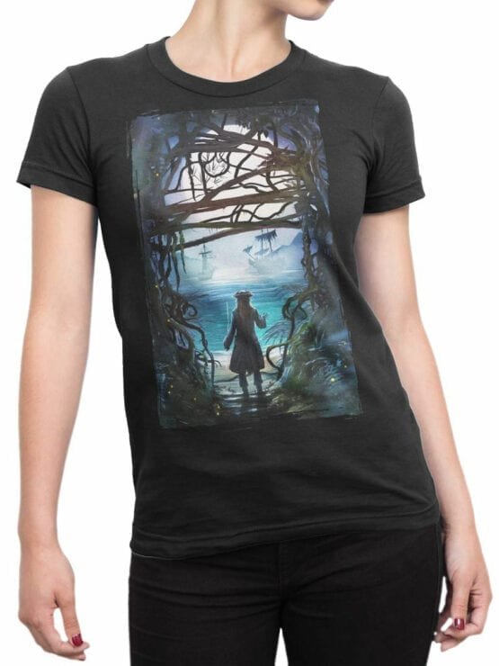 1157 Pirates of the Caribbean T Shirt Freedom Front Woman