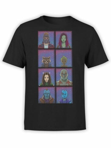 1171 Guardians of the Galaxy T Shirt Characters Front