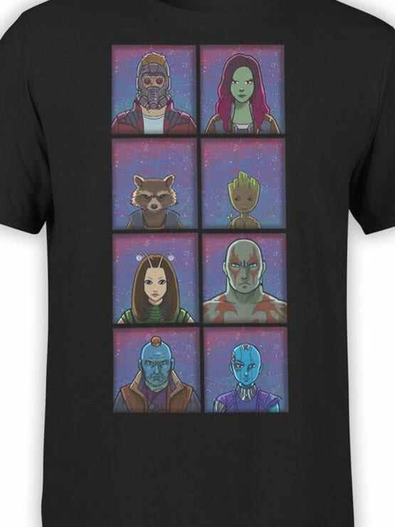 1171 Guardians of the Galaxy T Shirt Characters Front Color