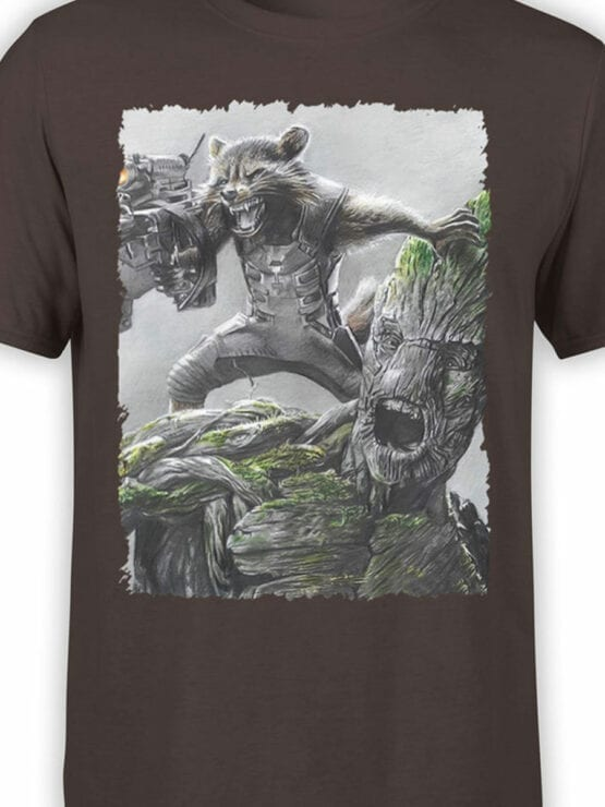 1174 Guardians of the Galaxy T Shirt Battle Front Color