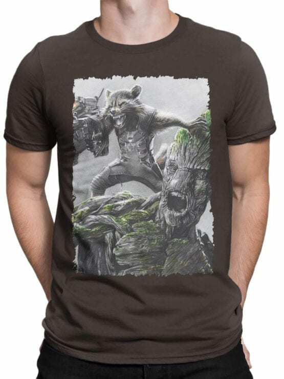 1174 Guardians of the Galaxy T Shirt Battle Front Man