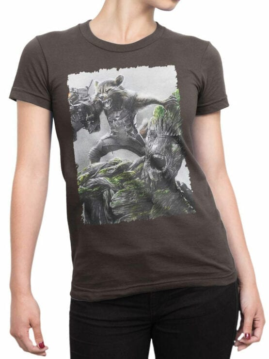 1174 Guardians of the Galaxy T Shirt Battle Front Woman